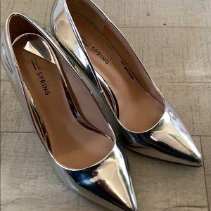 Shoes - Silver stilettos